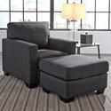 Benchcraft Bavello Chair & Ottoman - Item Number: 9730120+14
