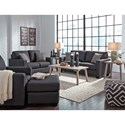 Benchcraft Bavello Contemporary Chair & Ottoman