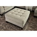 Benchcraft Beckendorf Contemporary Square Oversized Accent Ottoman with Tufted Top