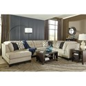 Benchcraft Beckendorf 3-Piece Sectional w/ Left Chaise & Armless Sleeper