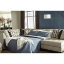 Benchcraft Beckendorf 3-Piece Sectional w/ Right Chaise & Armless Sleeper