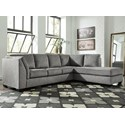 Benchcraft Belcastel 2-Piece Sectional with Chaise & Sleeper - Item Number: 7230510+17