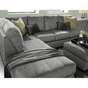 Benchcraft Belcastel 2-Piece Sectional with Left Chaise in Gray Fabric - Pillows Shown Sold Separately