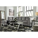 Benchcraft Belcastel 2-Piece Sectional with Left Chaise in Gray Fabric