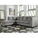 Benchcraft Belcastel 2-Piece Sectional with Chaise & Sleeper - Item Number: 7230516+83