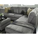 Benchcraft Belcastel 2-Piece Sectional with Right Chaise in Gray Fabric - Pillows Shown Sold Separately