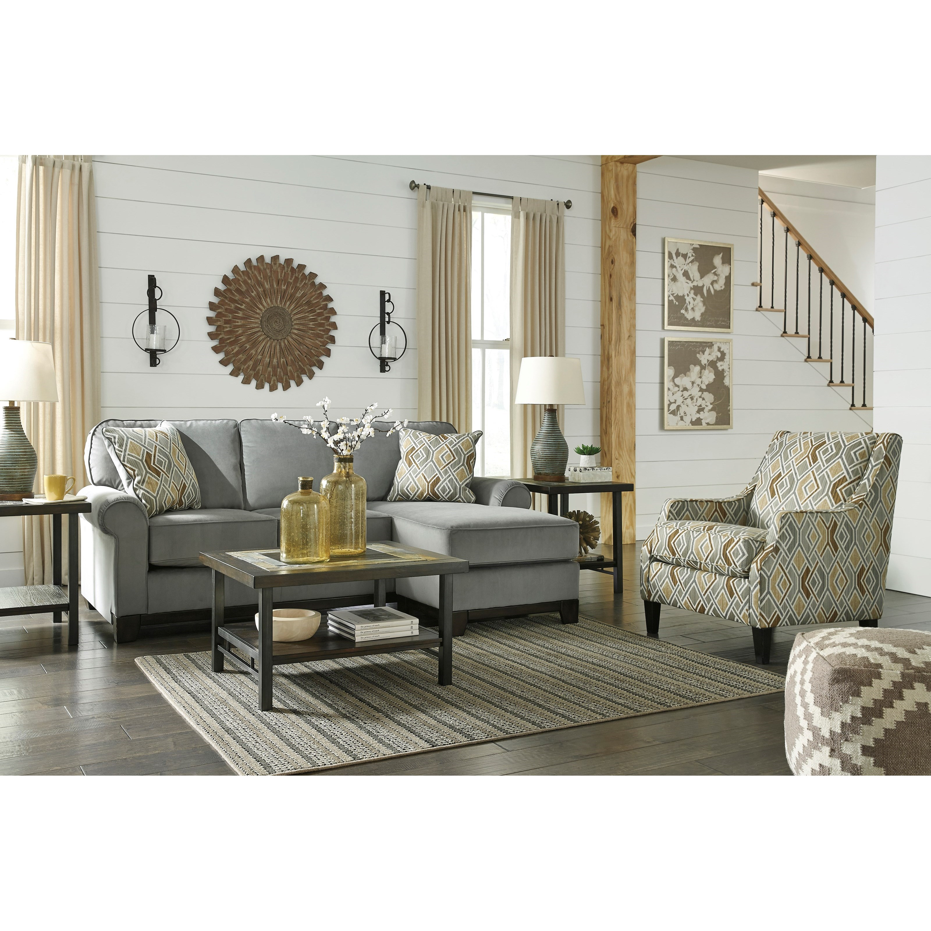 Benchcraft by ashley benld contemporary sofa chaise for Ashley chaise sofa