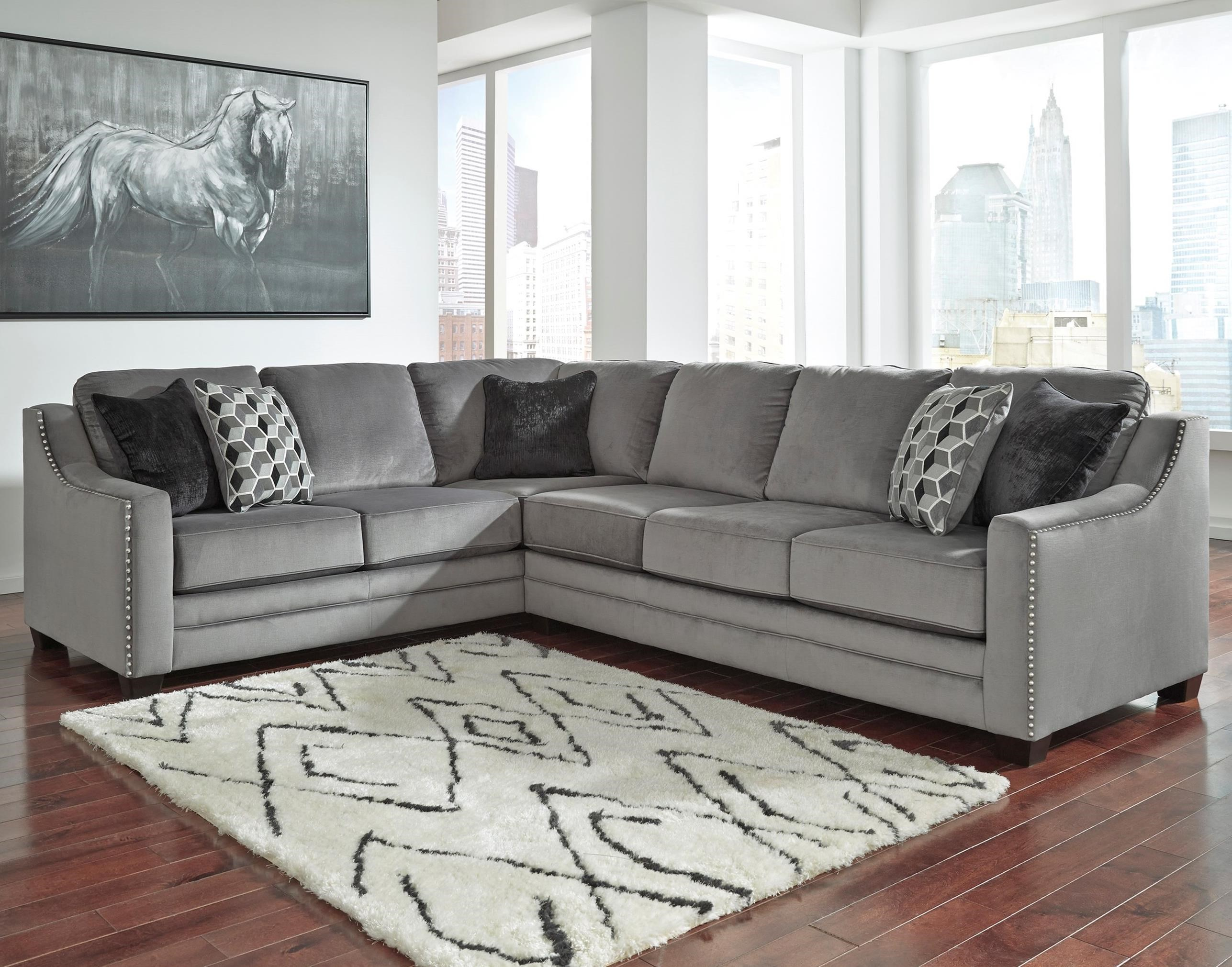 Benchcraft Bicknell Contemporary 2 Piece Sectional with Right Sofa
