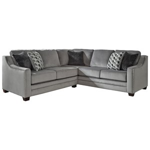 Benchcraft Bicknell 2-Piece Sectional with Left Loveseat