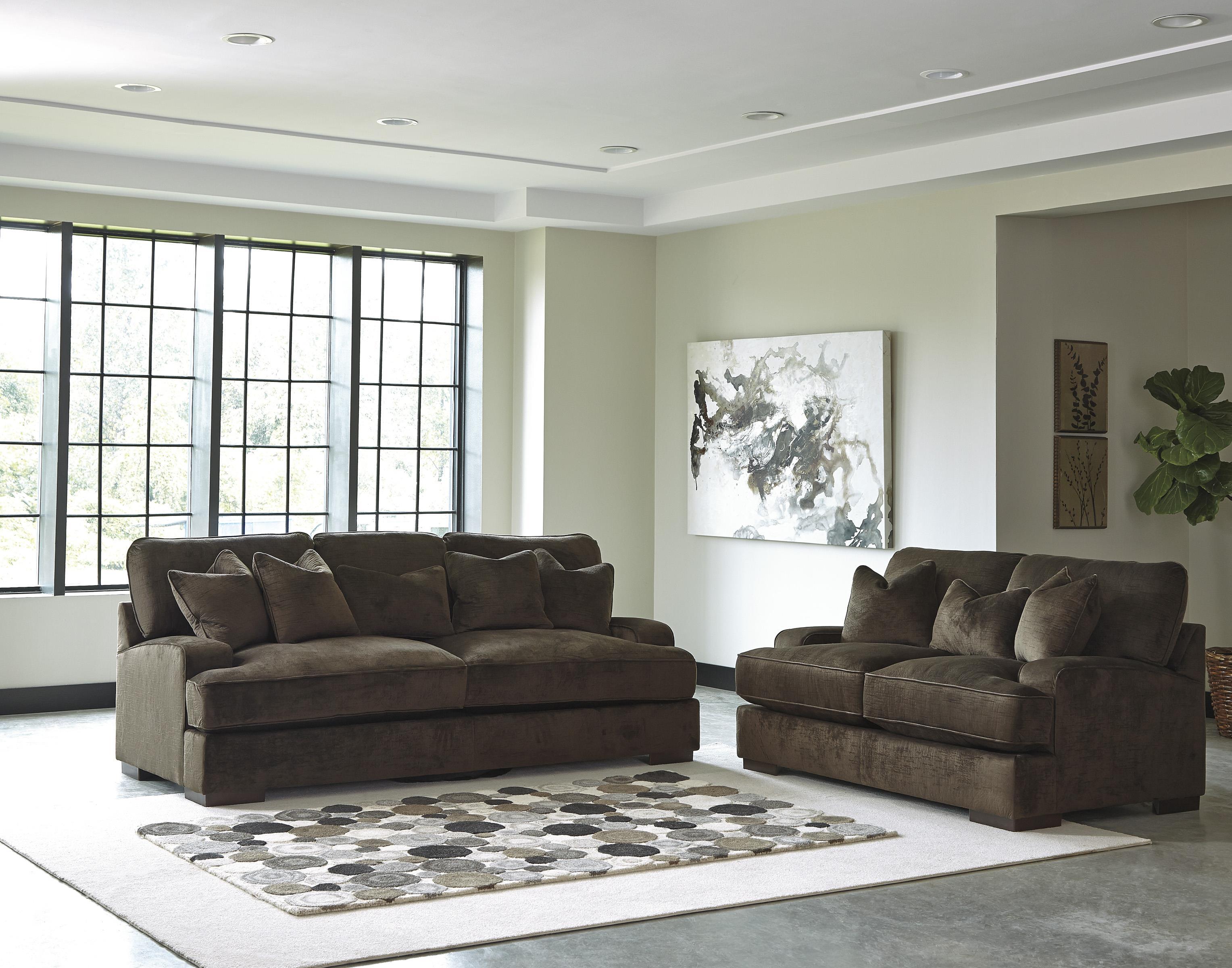 Benchcraft Bisenti Contemporary Sofa with UltraPlush  : products2Fbenchcraft2Fcolor2Fbisenti6530638 b3 from www.dunkandbright.com size 3055 x 2400 jpeg 748kB