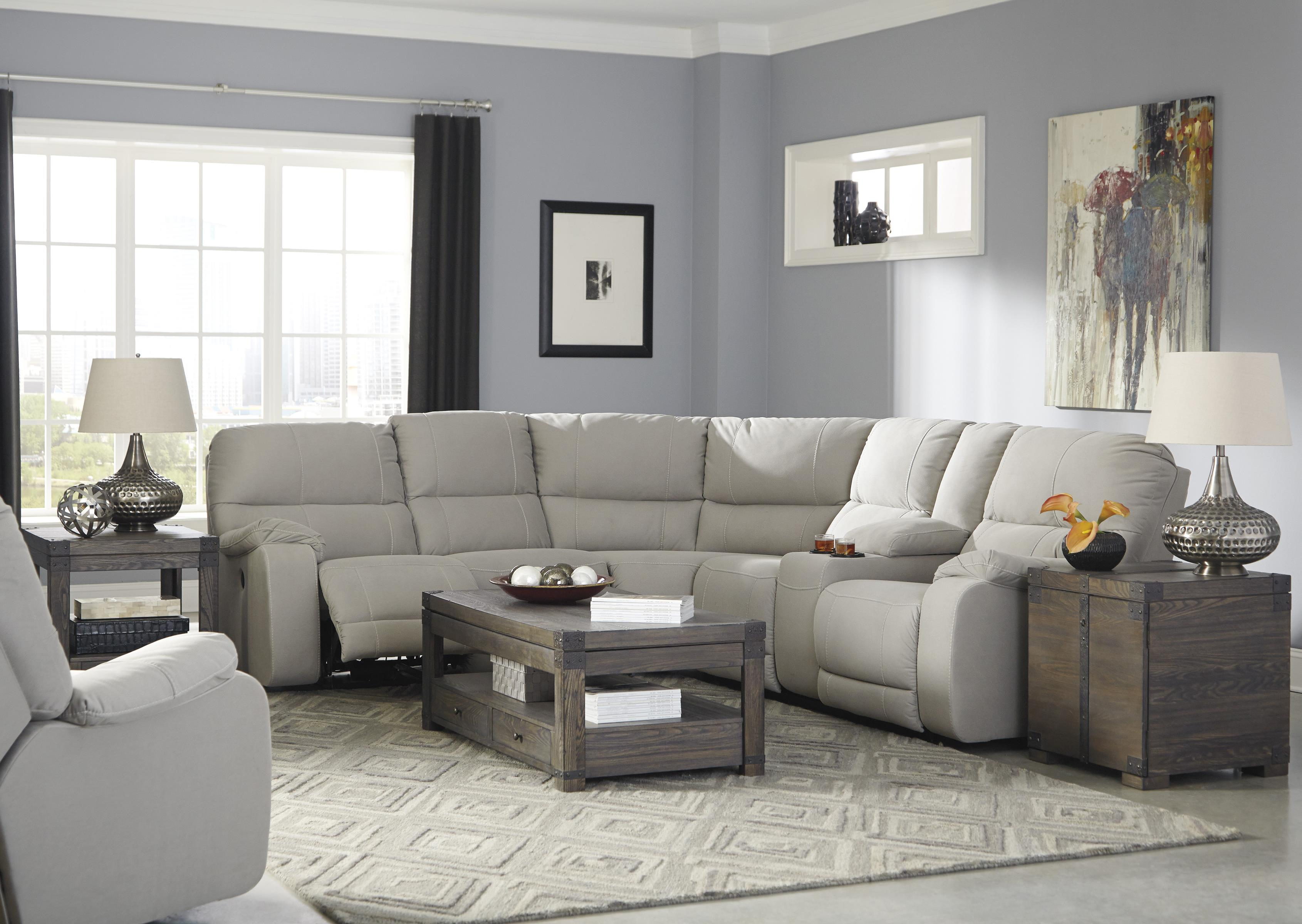 Benchcraft Bohannon Reclining Living Room Group - Item Number: 57401 Living Room Group 2