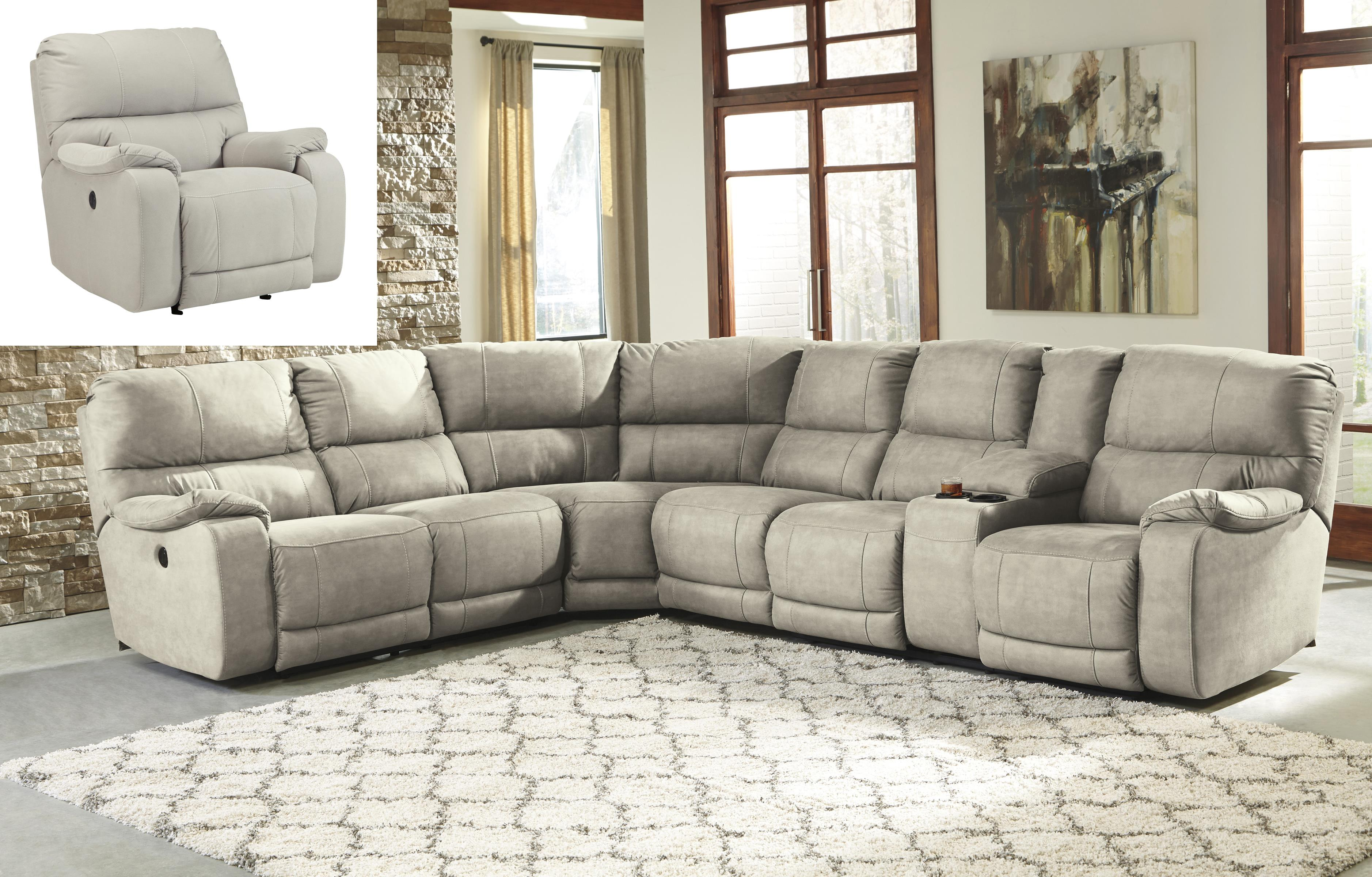 Benchcraft Bohannon Reclining Living Room Group - Item Number: 57401 Living Room Group 4