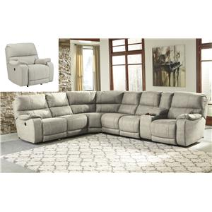 Benchcraft Bohannon Reclining Living Room Group