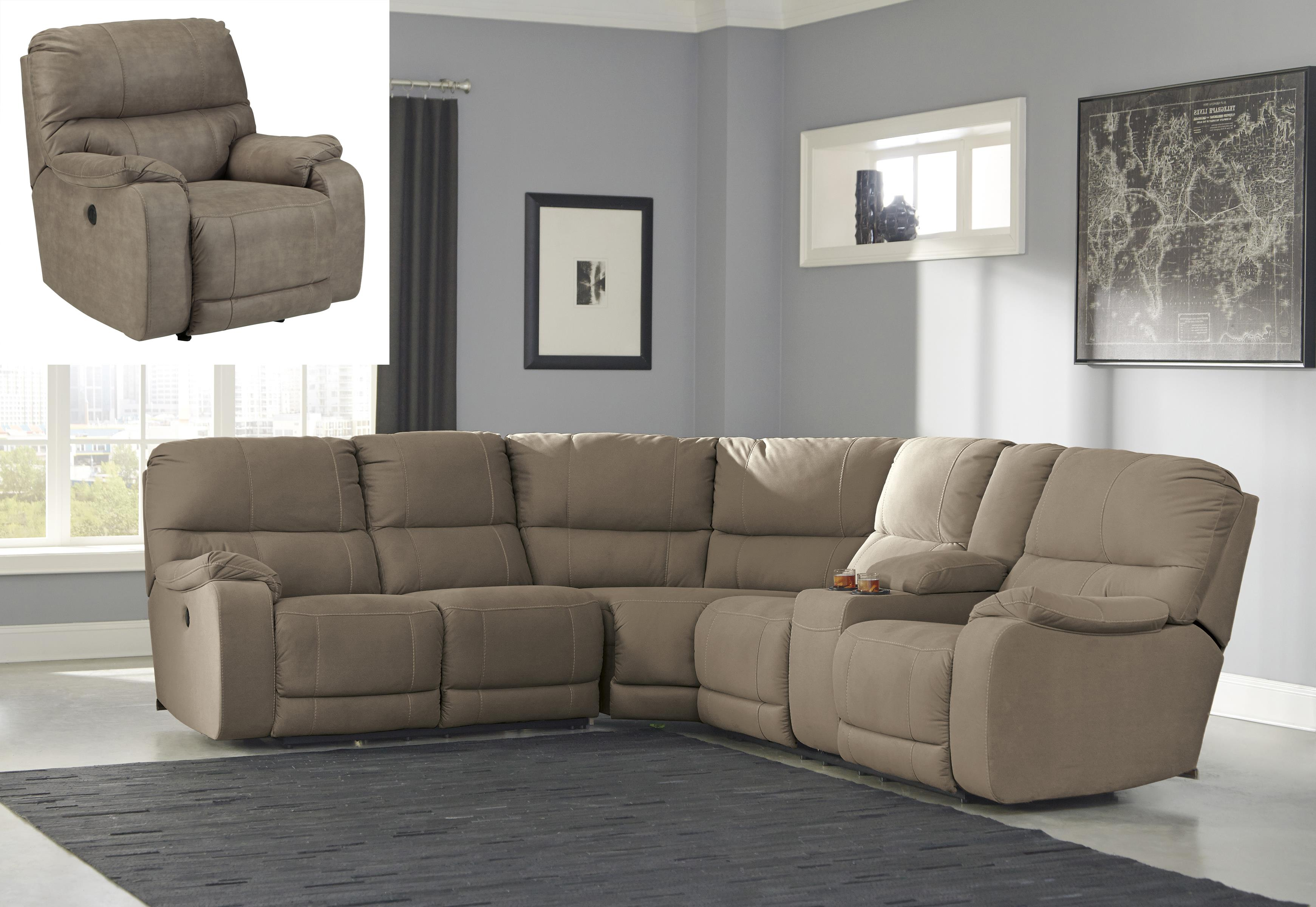 Benchcraft Bohannon Reclining Living Room Group - Item Number: 57403 Living Room Group 2