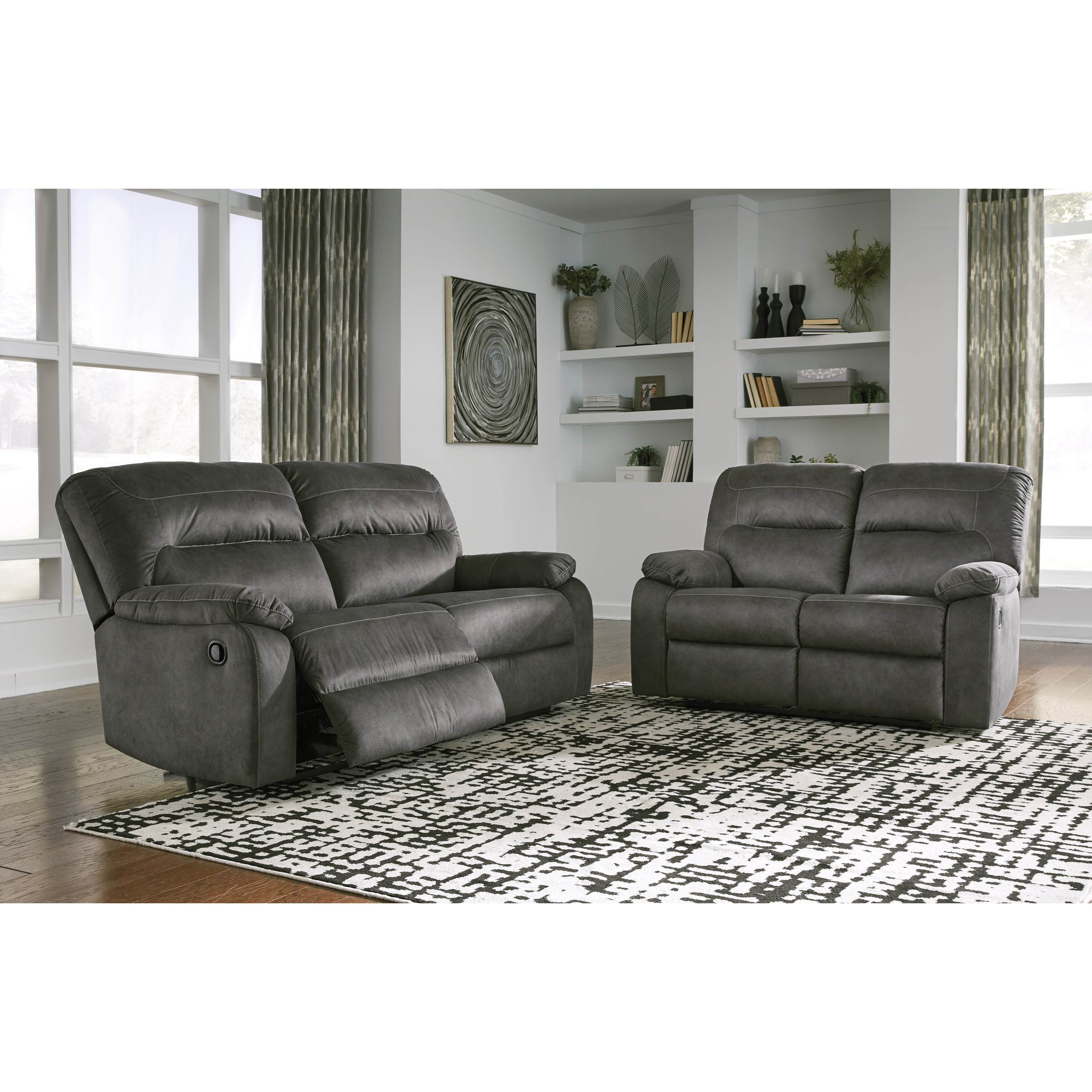 Bolzano Reclining Living Room Group by Benchcraft at Zak's Warehouse Clearance Center