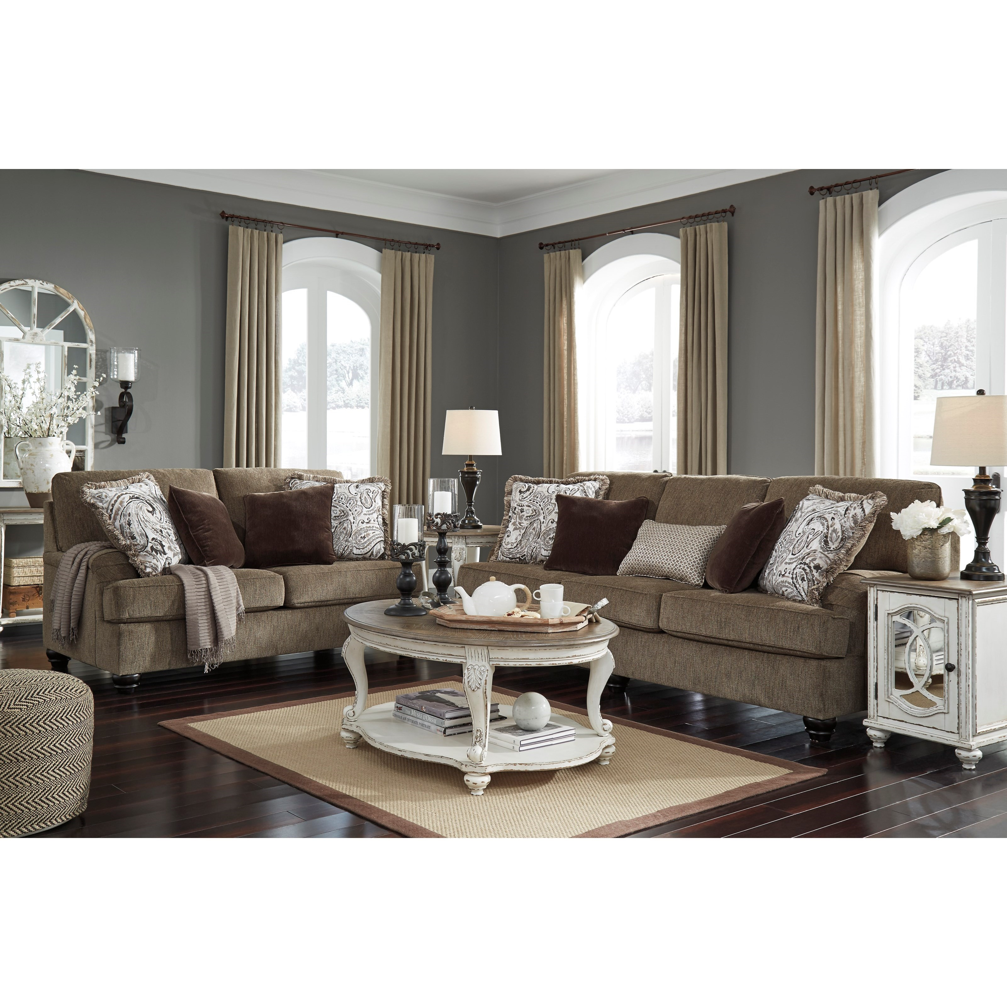 Ashley Furniture Current Sales Ad: Benchcraft By Ashley Braemar Transitional Loveseat With