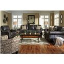 Signature Design By Ashley Breville Stationary Living Room Group - Item Number: 80004 Living Room Group 5