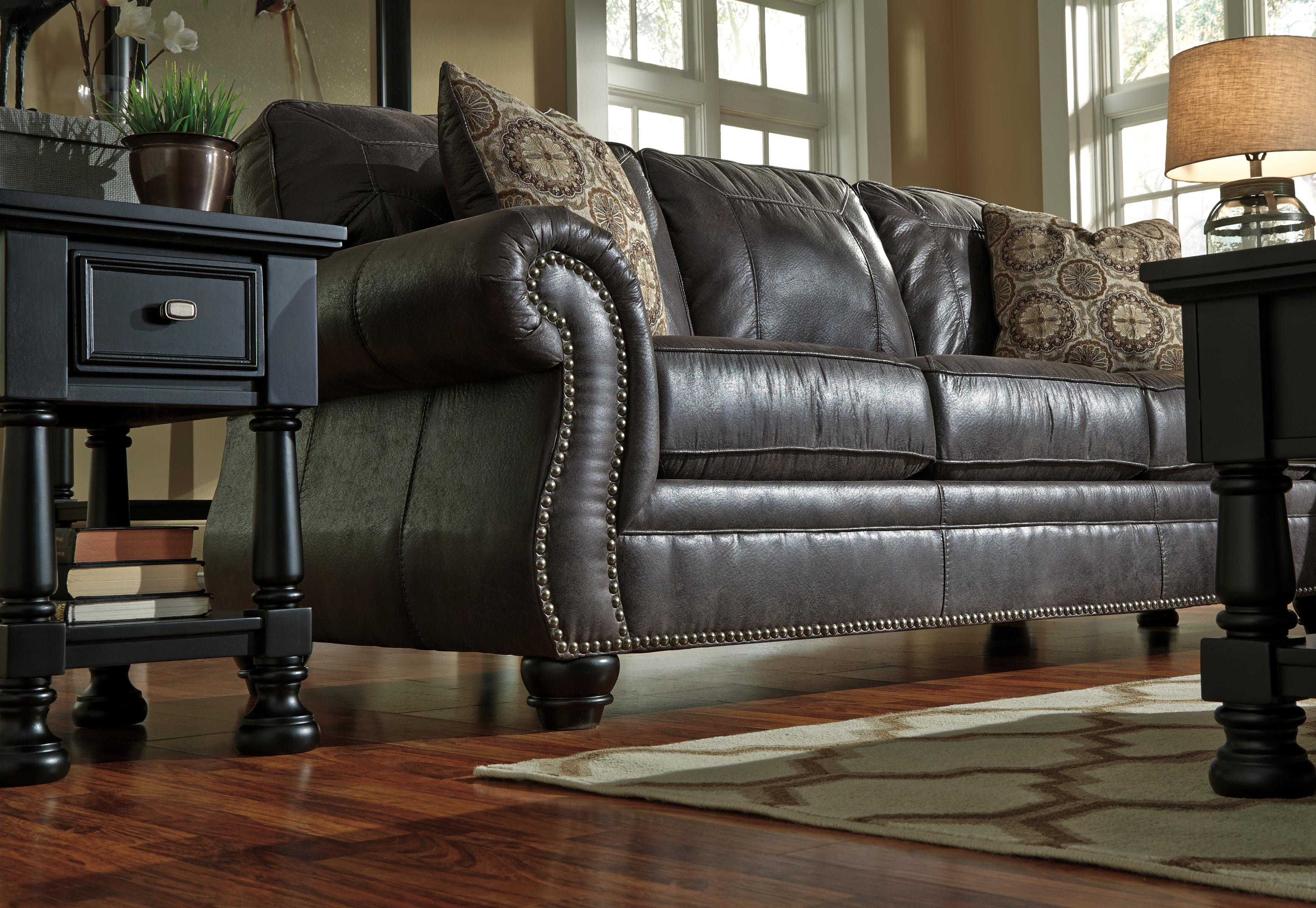 Benchcraft Breville Faux Leather Queen Sofa Sleeper With