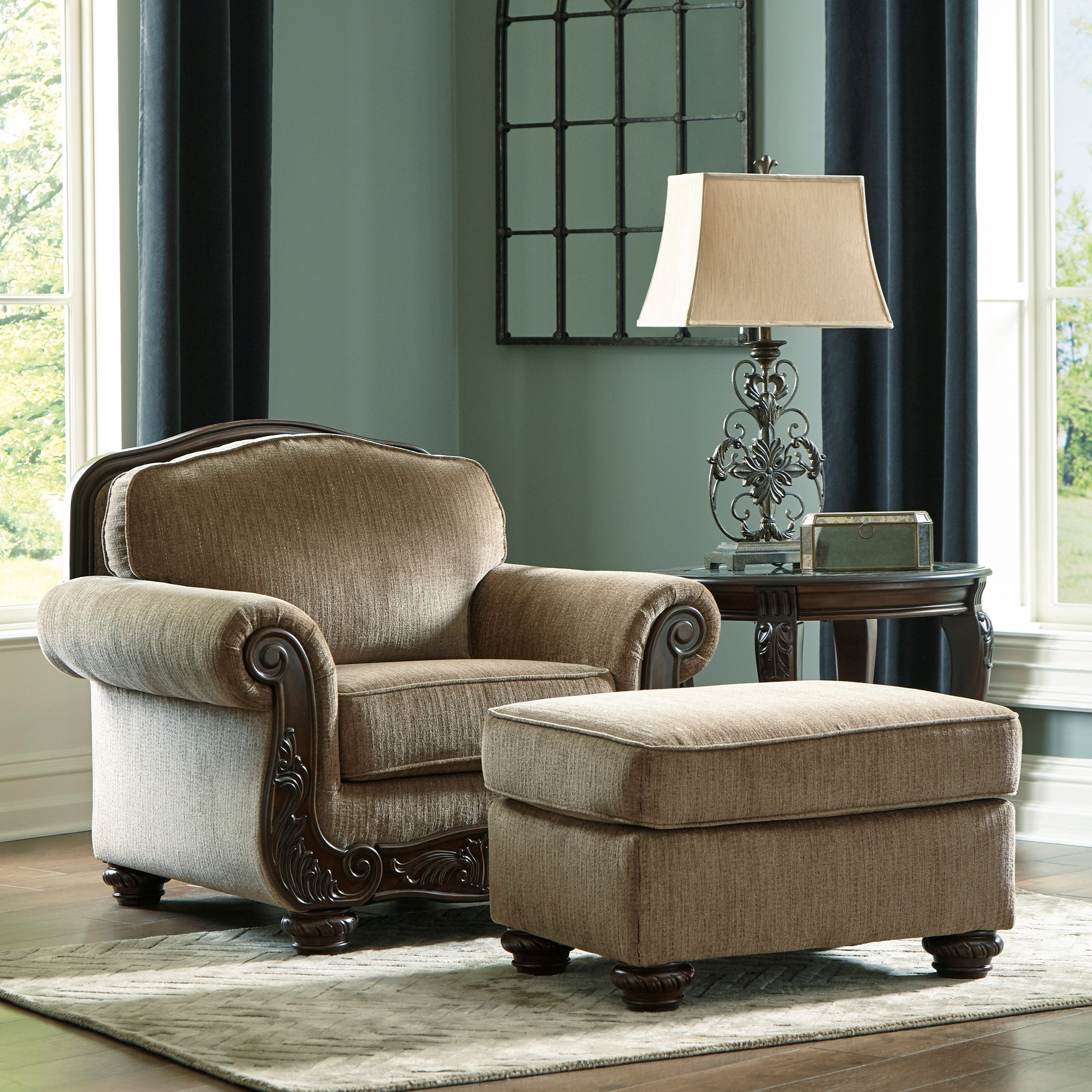 Briaroaks Chair and Ottoman Set by Benchcraft at Standard Furniture
