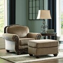 Benchcraft by Ashley Briaroaks Chair and Ottoman Set - Item Number: 8590520+14