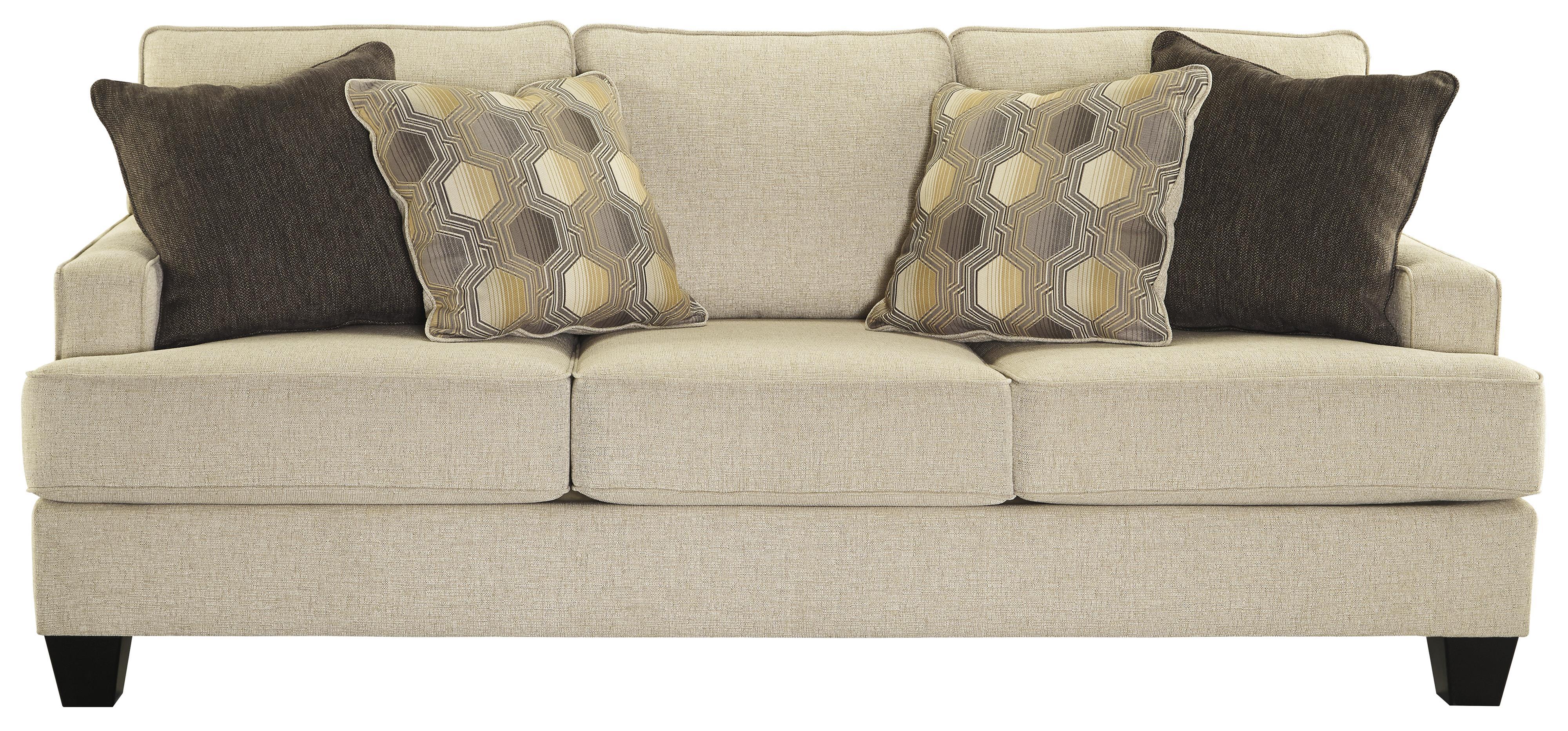 Benchcraft Brielyn Sofa with Track Arms and T Style Seat Cushions