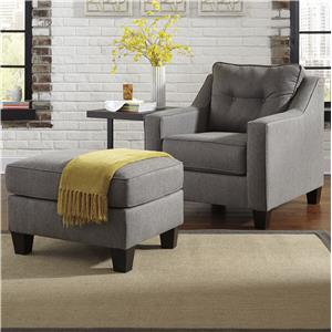 Ashley Brindon Chair & Ottoman