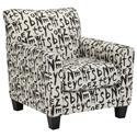 Benchcraft Brindon Accent Chair with Graffiti-Style Text Fabric