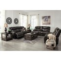 Benchcraft Brinlack Reclining Living Room Group - Item Number: 85602 Living Room Group