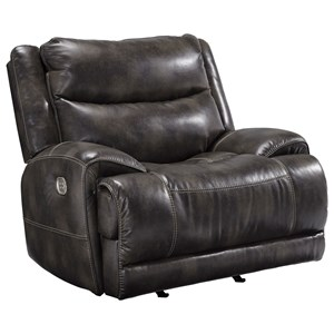 Benchcraft Brinlack Power Recliner with Adjustable Headrest