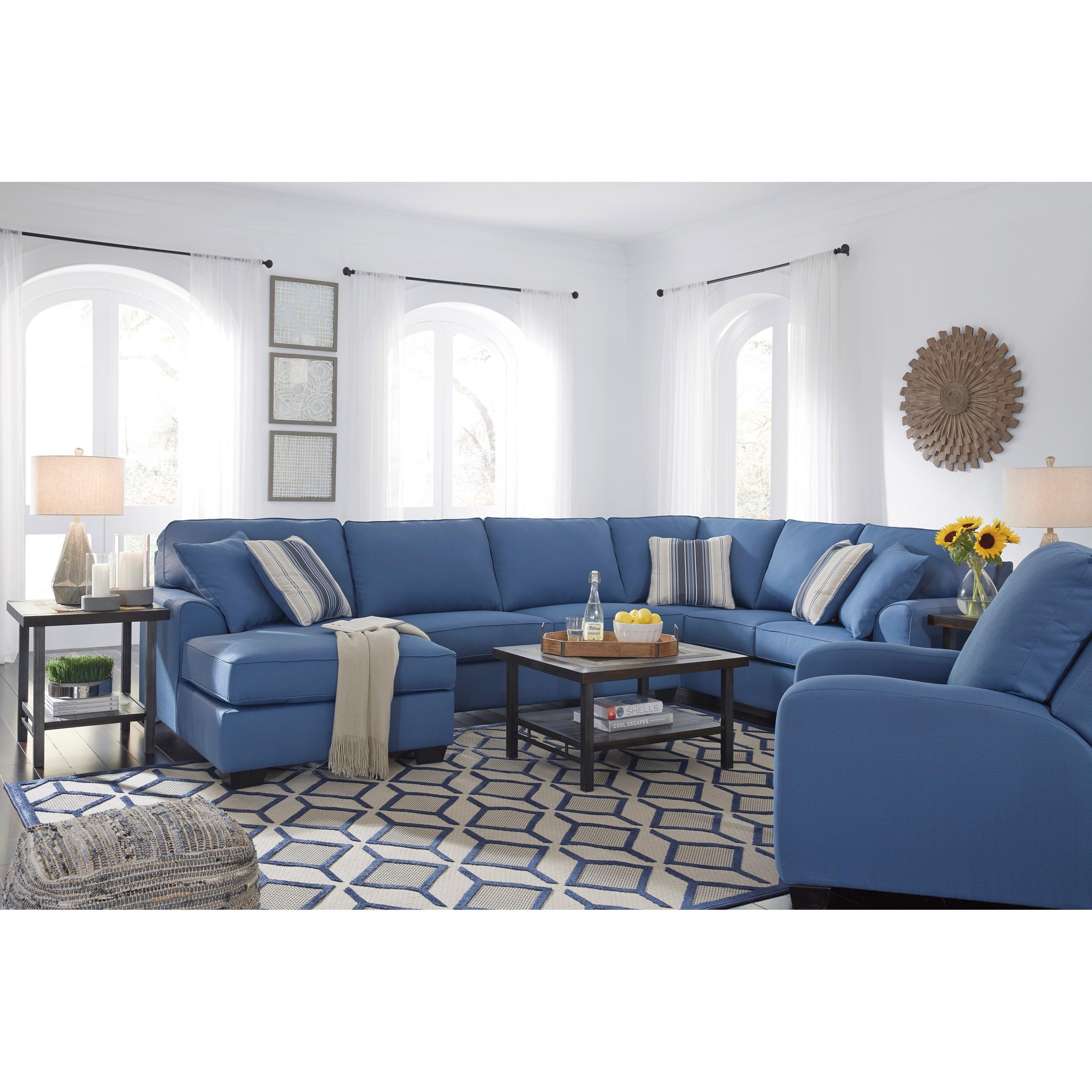 Benchcraft Brioni Nuvella Stationary Living Room Group - Item Number: 62303 Living Room Group 10