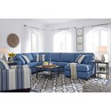 Benchcraft Brioni Nuvella Stationary Living Room Group - Item Number: 62303 Living Room Group 3