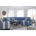 Benchcraft Brioni Nuvella Stationary Living Room Group - Item Number: 62303 Living Room Group 7