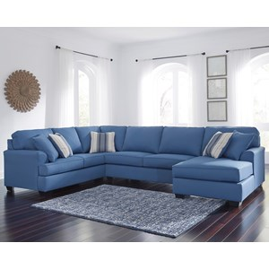 Benchcraft Brioni Nuvella Sectional with Chaise