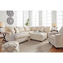 Benchcraft Brioni Nuvella Performance Fabric Sectional with Left Chaise