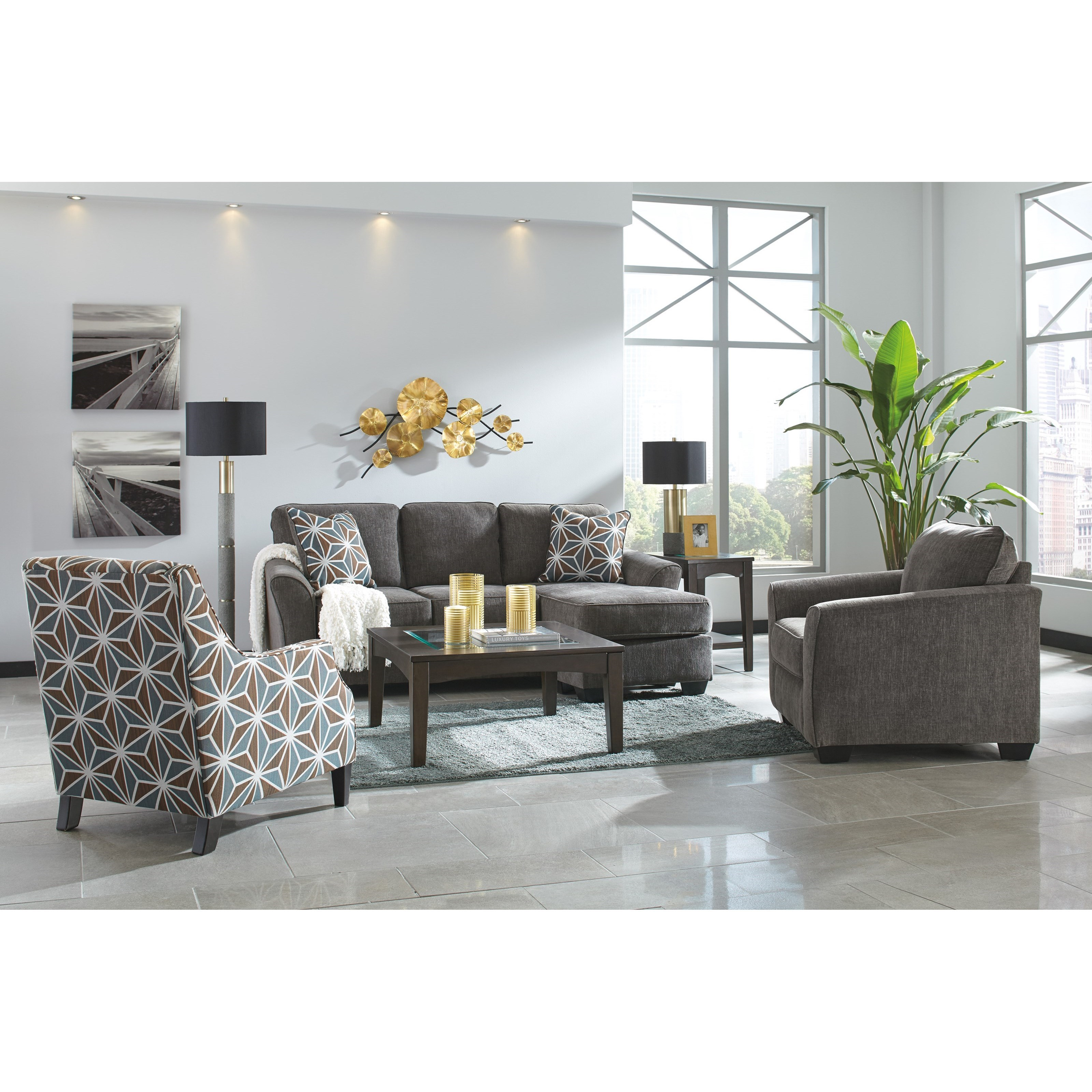 1050160 Ashley Furniture Kexlor Living Room Accent Chair: Benchcraft By Ashley Brise Contemporary Accent Chair In