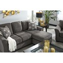 Benchcraft Brise Casual Contemporary Queen Sofa Chaise Sleeper