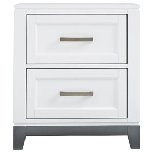 Contemporary Two Drawer Nightstand