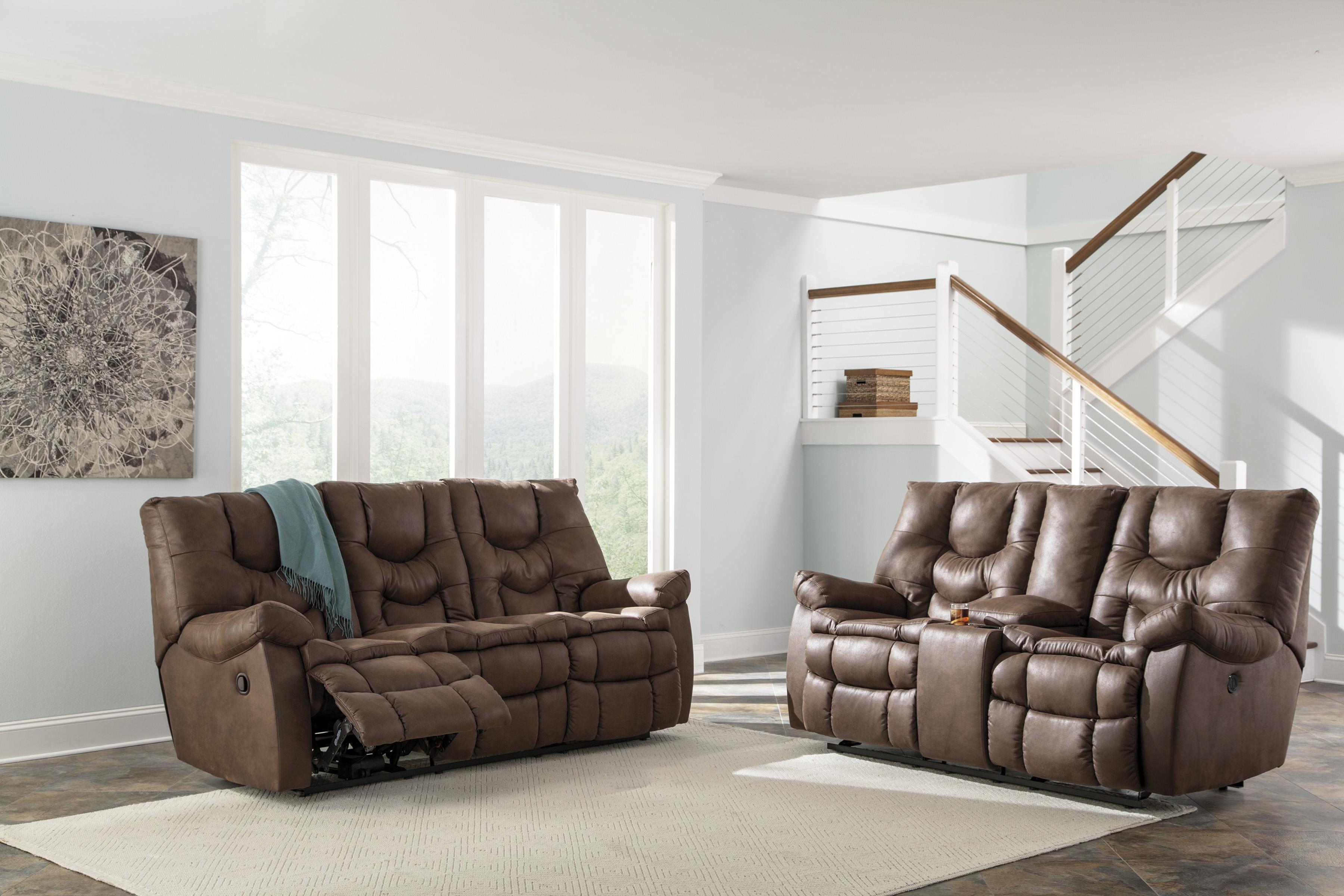 Ashley/Benchcraft Burgett Reclining Living Room Group - Item Number: 92201 Living Room Group 1