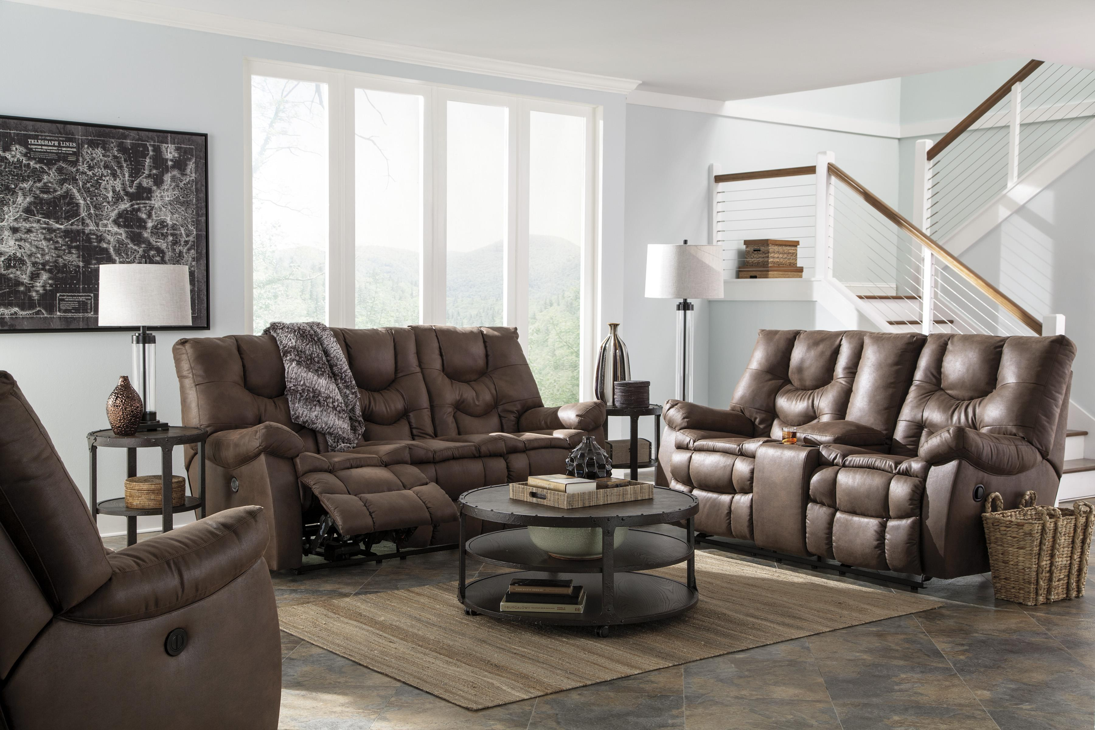 Benchcraft Burgett Reclining Living Room Group - Item Number: 92201 Living Room Group 4