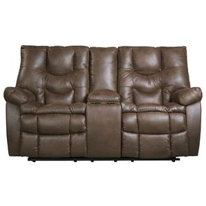 Ashley Burgett Glider Reclining Loveseat w/ Console