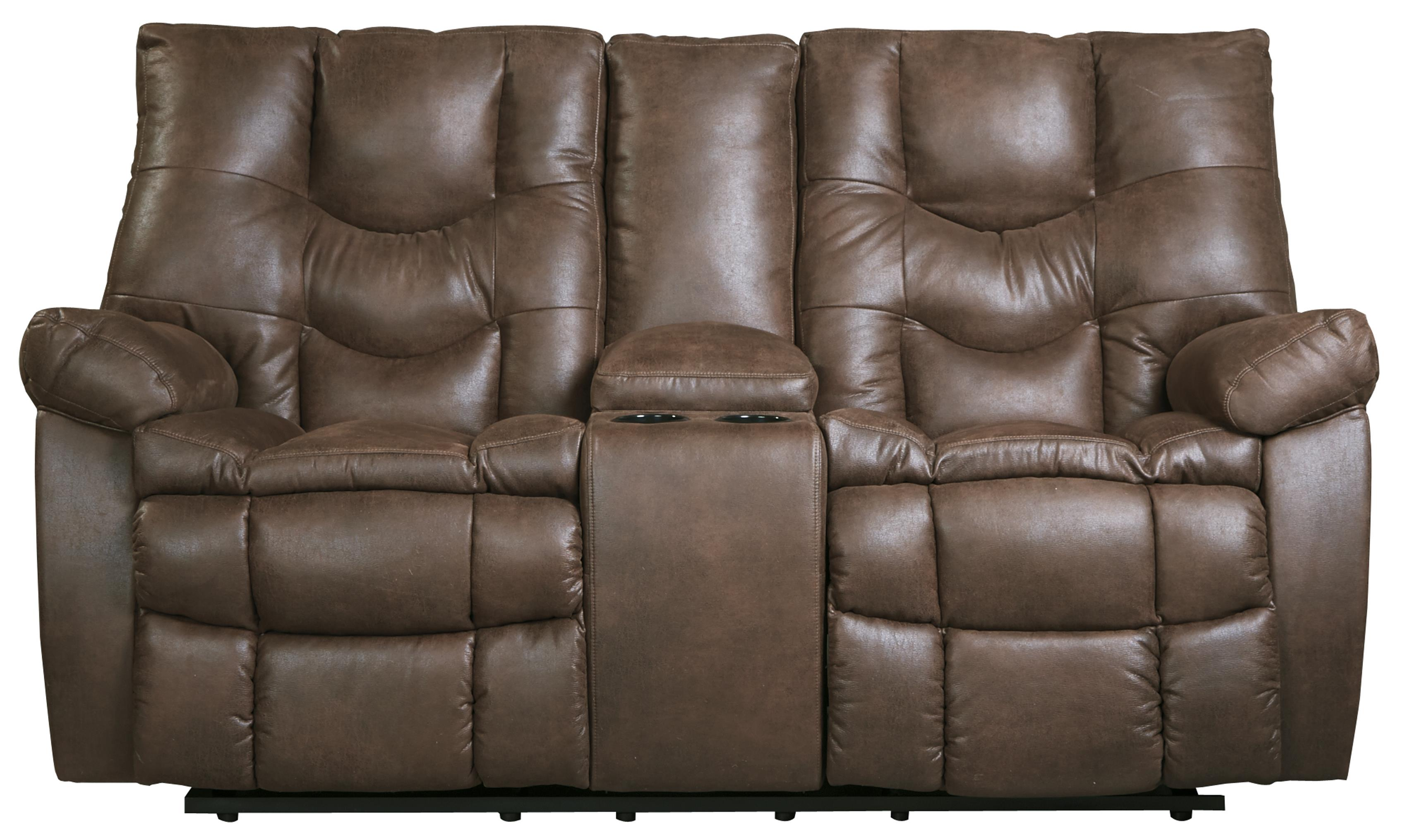 Benchcraft Burgett Glider Reclining Power Loveseat w/ Console - Item Number: 9220191