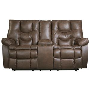 Ashley Burgett Glider Reclining Power Loveseat w/ Console