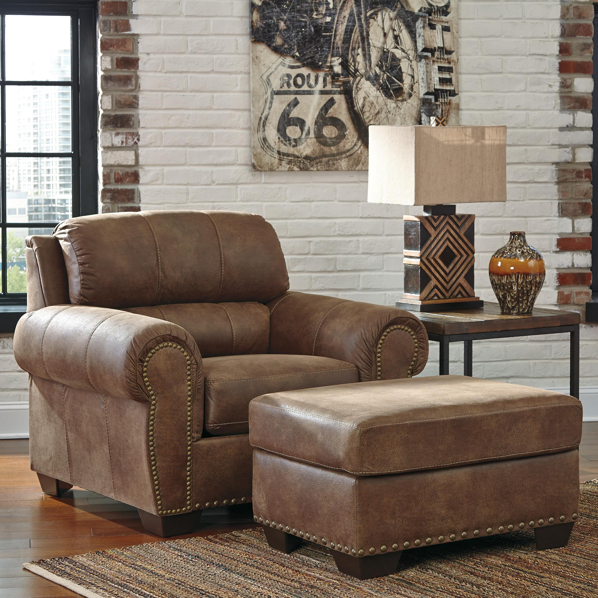 Benchcraft Burnsville Chair & Ottoman - Item Number: 9720620+14
