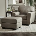 Benchcraft Calicho Chair & Ottoman - Item Number: 9120220+14