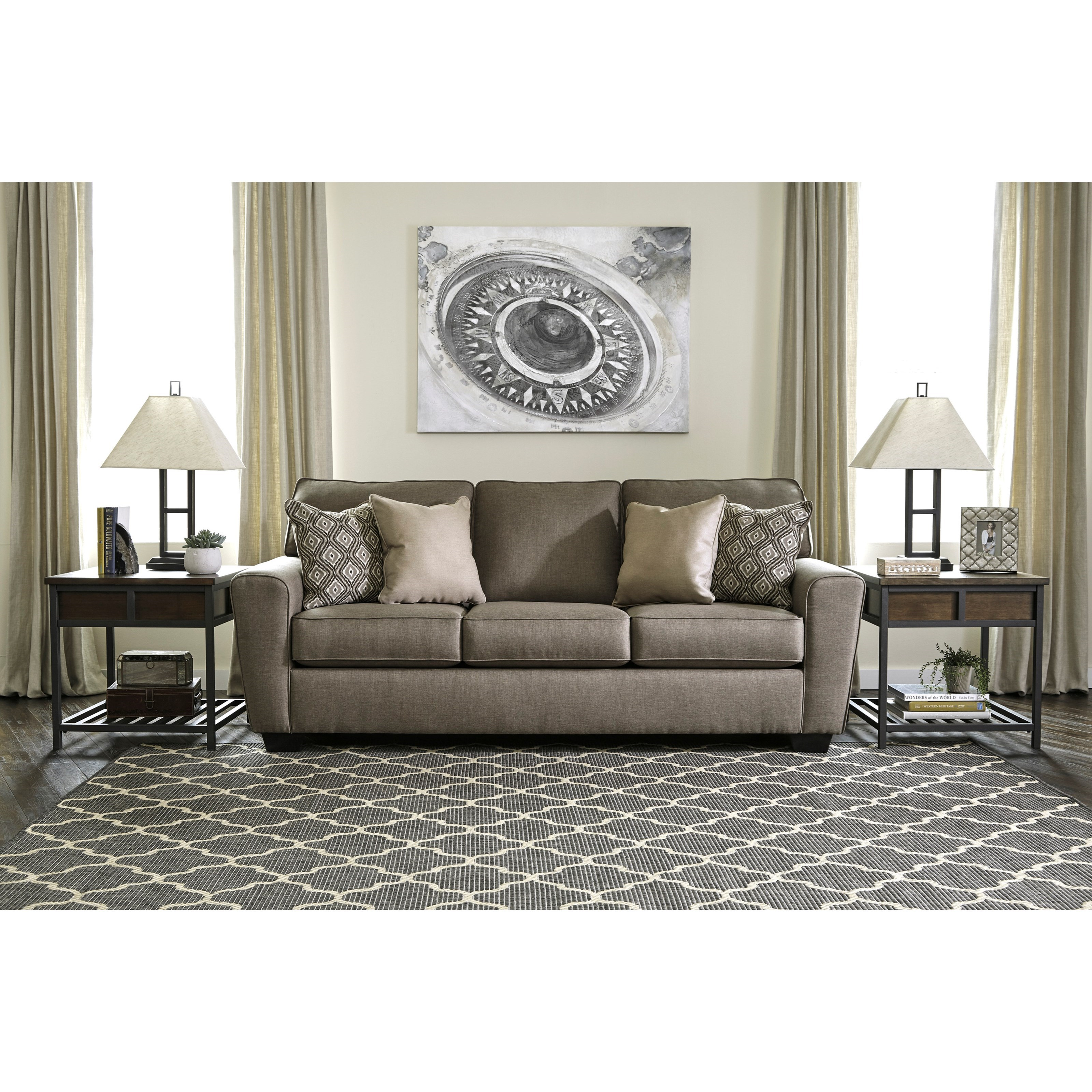 Ashley Sofas Prices: Benchcraft By Ashley Calicho Contemporary Queen Sofa