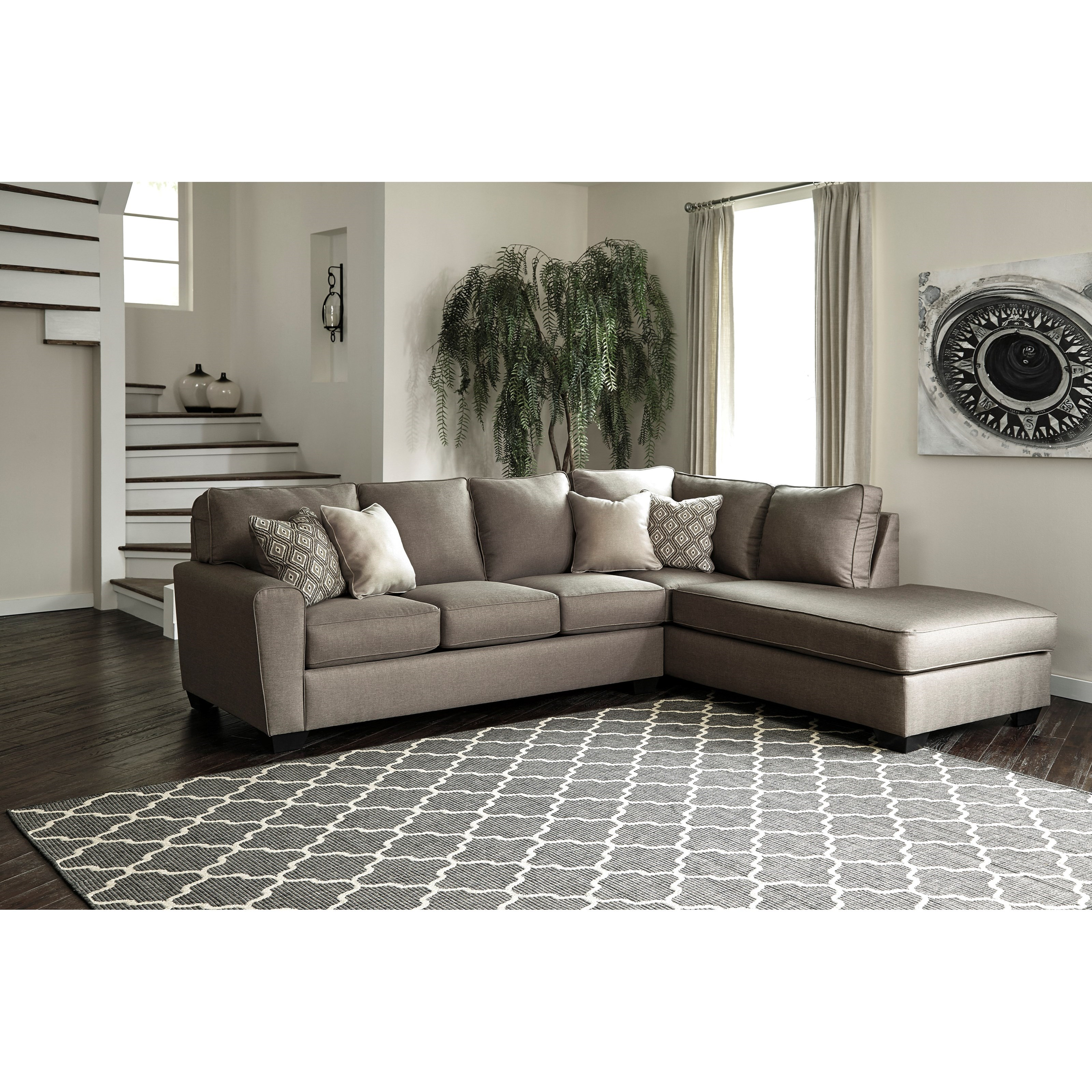 Benchcraft By Ashley Calicho Contemporary Sectional With