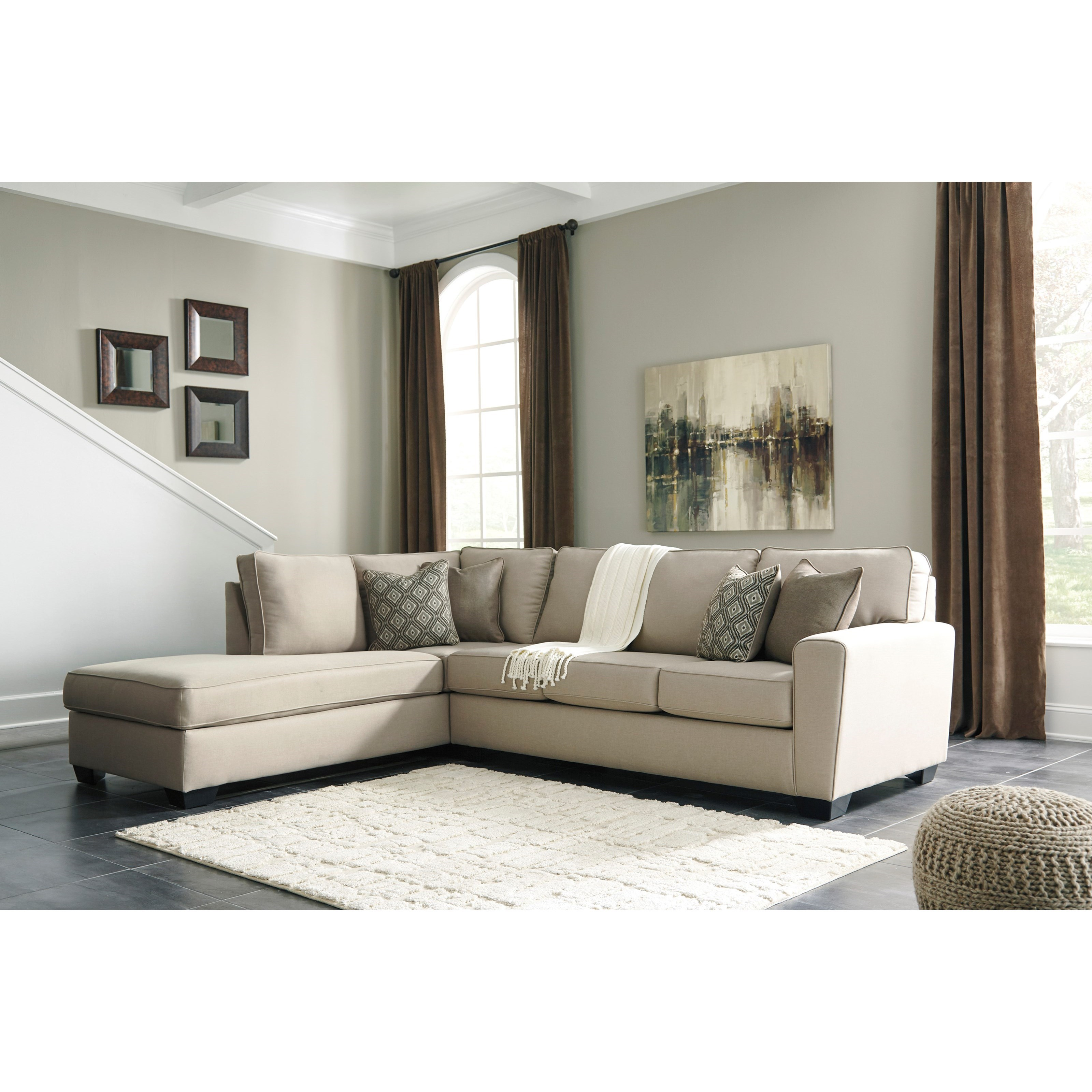 Benchcraft Calicho Contemporary Sectional with Left Chaise ...