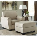 Benchcraft Calicho Chair & Ottoman - Item Number: 9120320+14