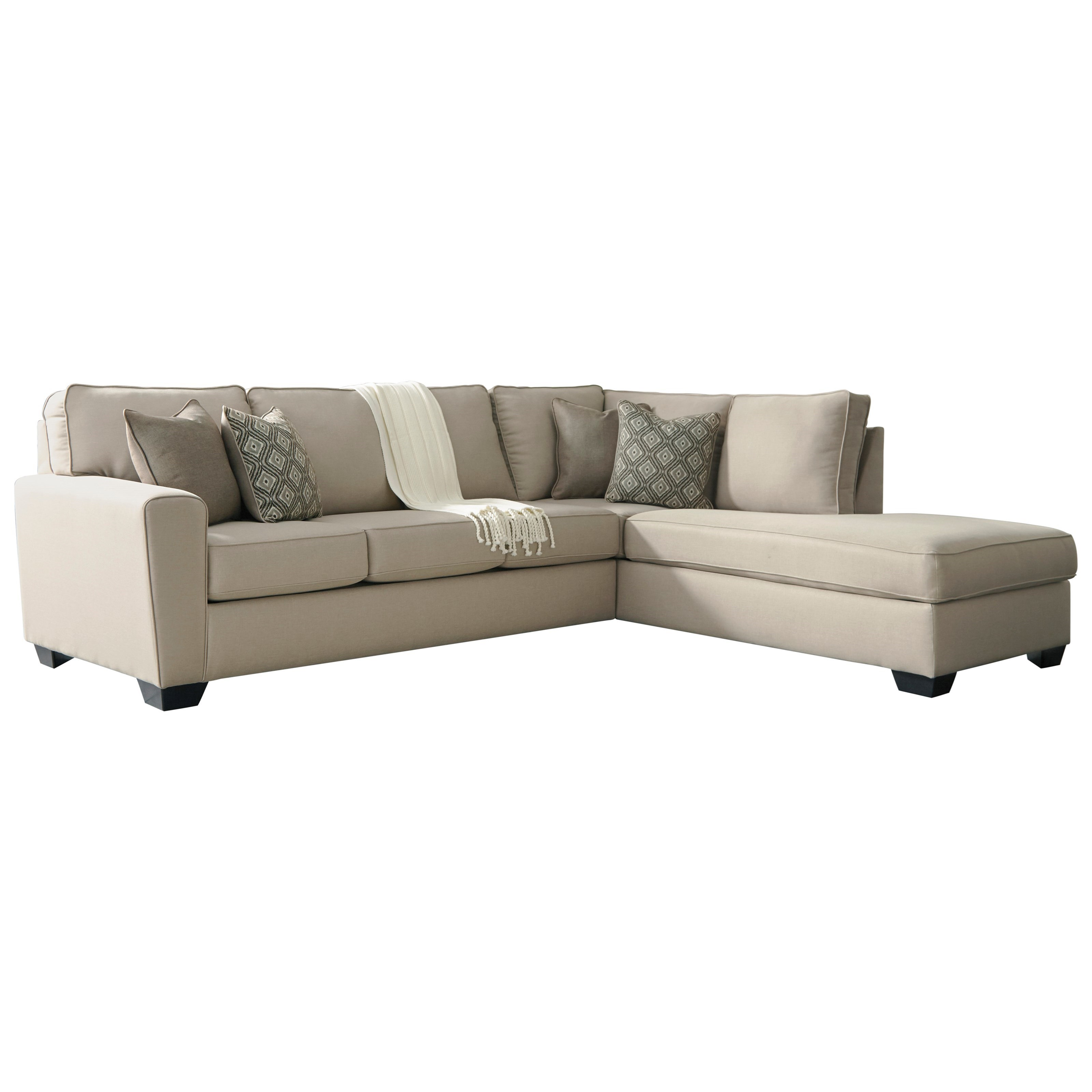 Contemporary Sectional: Benchcraft Calicho Contemporary Sectional With Right