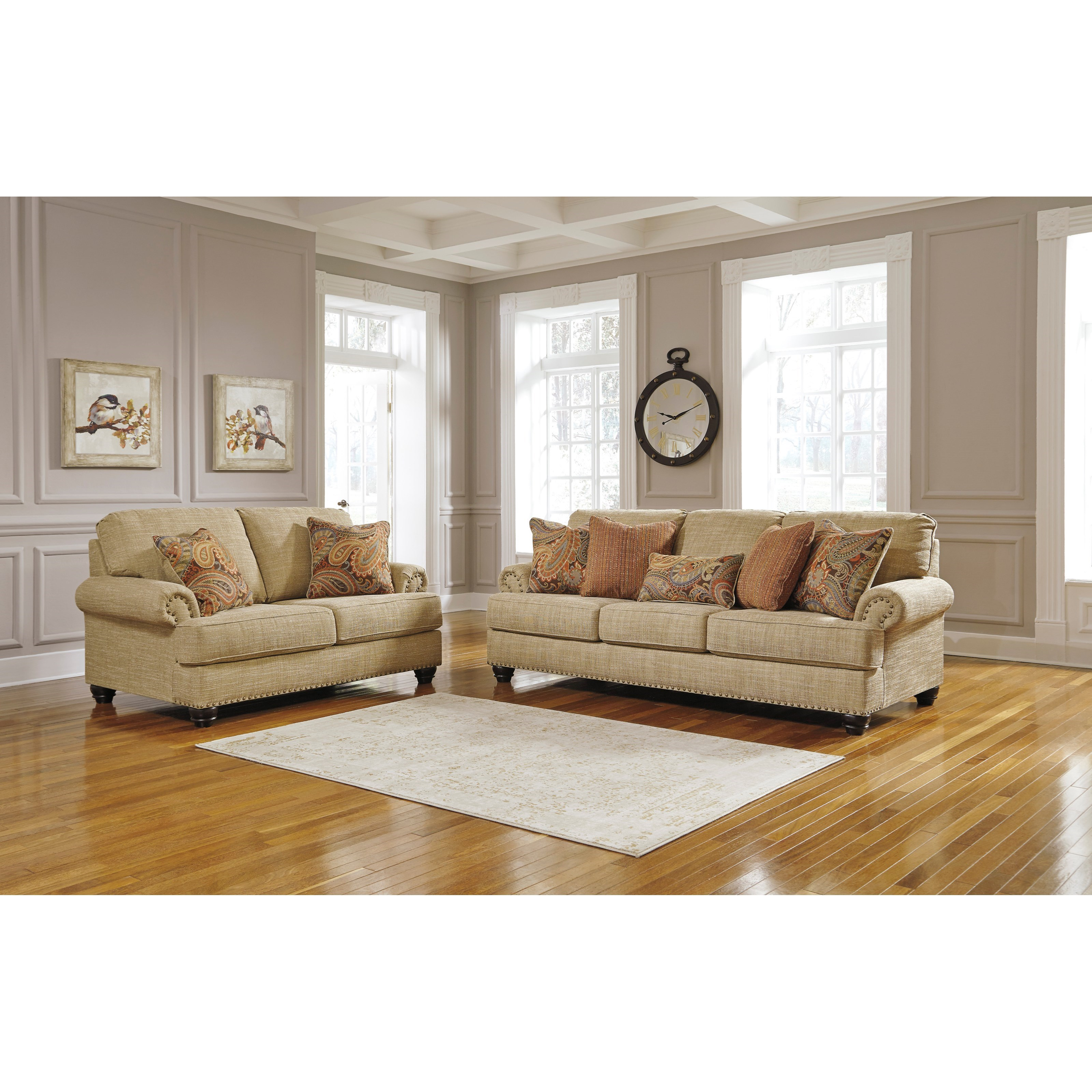 Benchcraft Candoro Stationary Living Room Group Value City Furniture Stationary Living Room